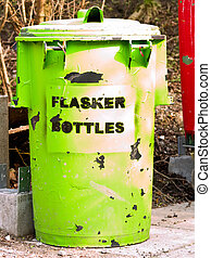 Urban environment - plastic rubbish bins in Denmark - Urban...