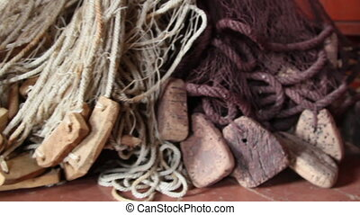 The bottom part of the fishing net - The closer view of the...
