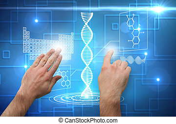 Composite image of hands pointing and presenting - Hands...