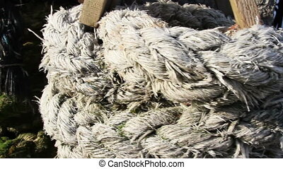 Different kinds of ropes displayed - Different kinds of...