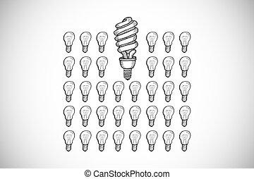 Composite image of idea doodle - Idea doodle against white...