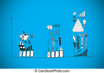Composite image of finance and banking doodles