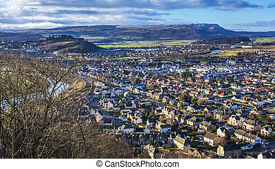 Stirling from Wallace Monument - Shot of Stirling from the...