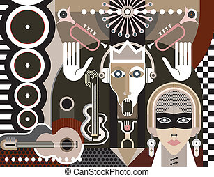 Abstract Art - Abstract Music Art vector illustration