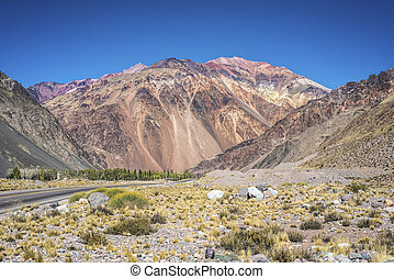 Lujan de Cuyo in Mendoza, Argentina - National Road 7...