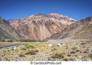 Lujan de Cuyo in Mendoza, Argentina - National Road 7...