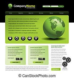 Vector web site template - Vector web site design template...