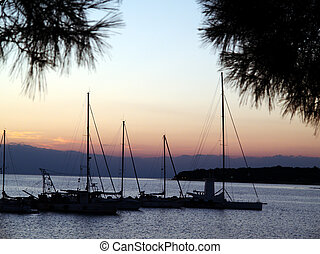 Sunset - The haven of Umag in the evening