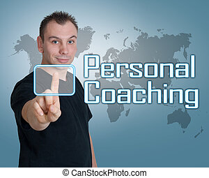 Personal Coaching - Young man press digital Personal...