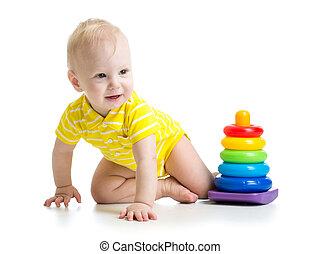 赤ん坊, 男の子, 教育, おもちゃ, 遊び
