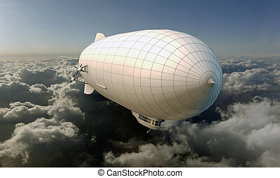 airship flying in the sky