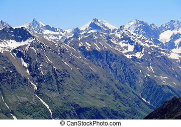 Rockies in Caucasus region in Russia - Scenery of rockies in...