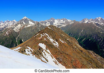 Rockies in Caucasus region in Russia - Scenery of rockies in...