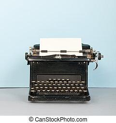 nero, Macchina scrivere