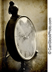 anticaglia, custodia, orologio, tempo