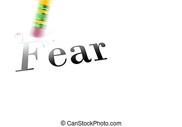 Erasing Fear with Pencil Eraser - Person using a pencil...