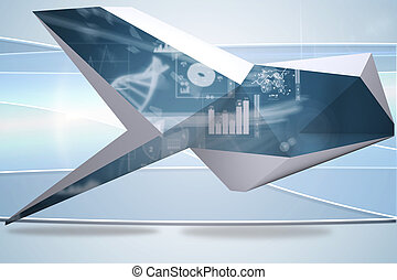 Composite image of interface on abstract screen - Interface...