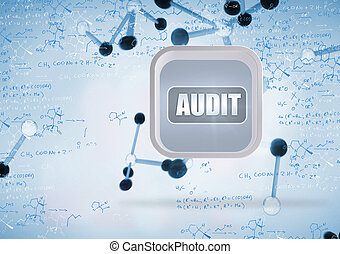 Composite image of audit banner on abstract screen - Audit...