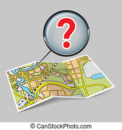 Map booklet with question mark - Map booklet with question...