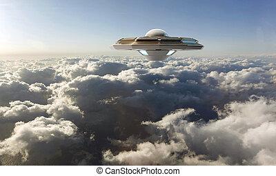 unidentified flying object - unidentified object flying in...
