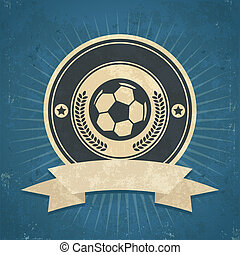 Retro Soccer Ball Emblem