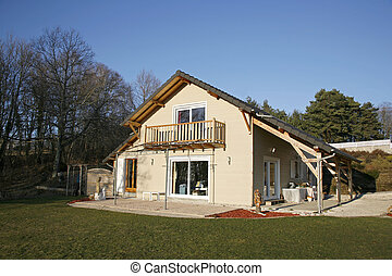 House and garden - Correze, France - Newly built wooden...