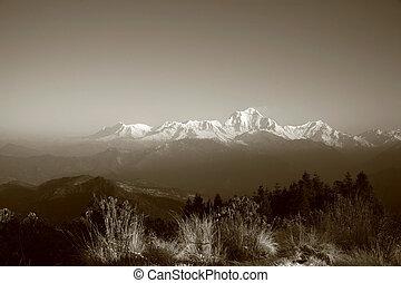 annapurna panorama - Annapurna range panorama taken from...