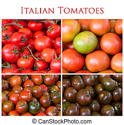 Collage of Italian tomatoes