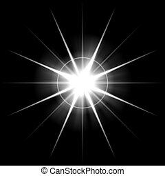 Bursting Lens Flare - An abstract lens flare Very bright...