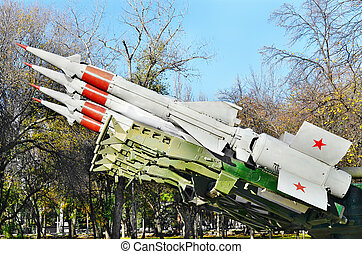 Antiaircraft missile.Retro weaponry - Antiaircraft missile...