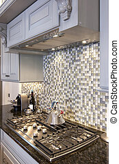 kitchen stove and backsplash - beautiful kitchen stove and...
