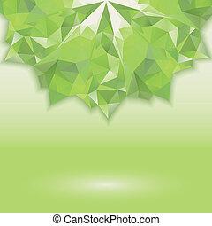 green triangle crystal horizontal