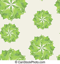 green triangle crystal seamless - abstract background with...