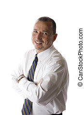everyday businessman isolated over white