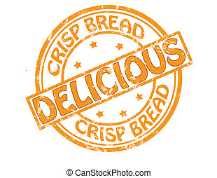 Crisp bread - Stamp with text crisp bread inside, vector...
