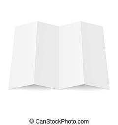 Blank booklet - Illustration of blank fourfold booklet on...