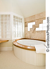 bathroom with whirlpool - beautiful upscape residential...