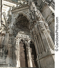 Regensburg Cathedral - detail of the Regensburg Cathedral in...