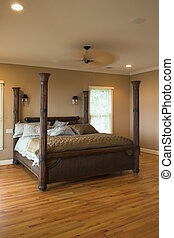 four post bed - beautiful bedroom with four poster bed