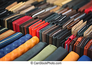 The wallet - Different kinds of wallets made ??of genuine...