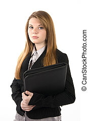 young job applicant - young beautiful job applicant with...