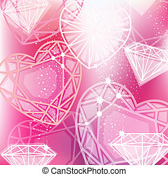 Abstract pink background with linear diamonds cutting