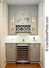 butlers pantry - butler\'s pantry with wine rack and fridge