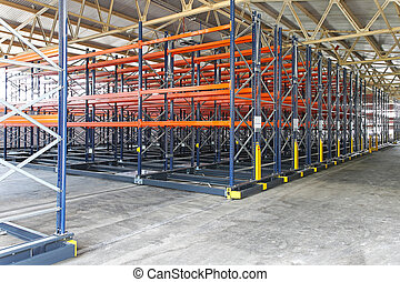 Shelving system - Mobile shelving roller system in...