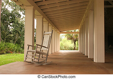 chair and boathouse - open air boathouse with rocking chair