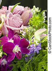 bouquet background - shallow focus background of roses,...