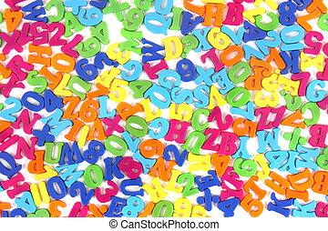 plastic alhabet background (letters in different colors)
