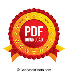PDF download icon Upload file button Load symbol Red award...