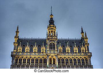 The Maison du Roi in Brussels, Belgium. - The Maison du Roi...