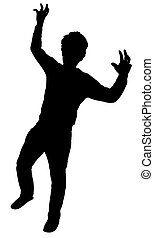 frightening man silhouette vector